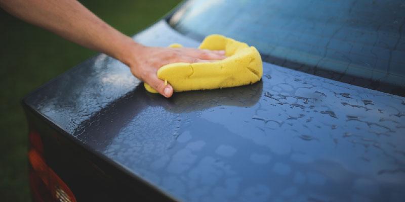 Car Wash Before Detailing the Car